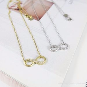 Infinity Cubic Necklace - Gold or Silver